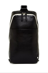 Ben Minkoff Raleigh Leather Sling Backpack Black