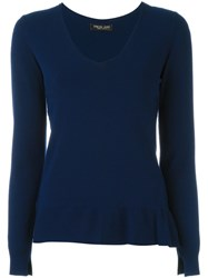 Twin Set V Neck Sweater Blue
