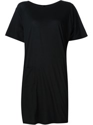 Forme D'expression Short T Shirt Dress Black
