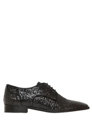 Red Valentino 20Mm Glittered Derby Lace Up Shoes