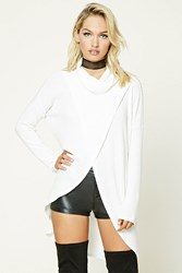 Forever 21 Turtleneck Split Top Ivory