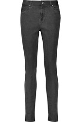 Mcq By Alexander Mcqueen High Rise Skinny Jeans Dark Gray