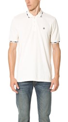 Stussy Block Collar Polo Shirt Creme