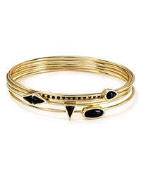 Jules Smith Designs Jules Smith Canyon Bangles Set Of 5 Yellow Gold Black