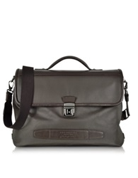 The Bridge By Pininfarina Leather Briefcase Dark Brown
