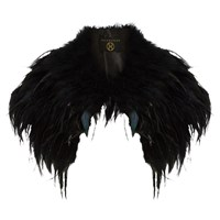 Phase Eight Collection 8 Alana Feather Cape Black