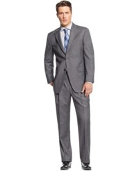 Tommy Hilfiger Medium Grey Sharkskin Classic Fit Suit