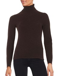 Lord And Taylor Cashmere Turtleneck Sweater Classic Brown