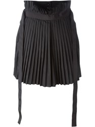 Sacai Pleated Skirt Black