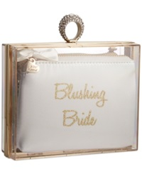 Blue By Betsey Johnson Clutch In A Box White Gold