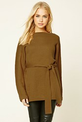 Forever 21 Contemporary Belted Tunic