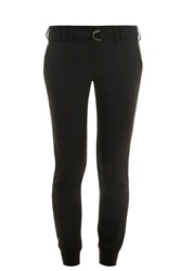Vince Belted Jogging Trousers Black