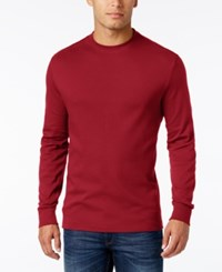 John Ashford Men's Big And Tall Interlock Crew Neck T Shirt Only At Macy's Ruby Red