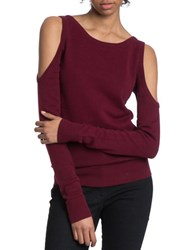 Plenty By Tracy Reese Cold Shoulder Crewneck Sweater Anemone