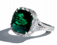Bayco Emerald And Diamond Ring Green