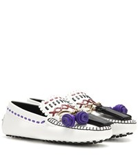 Tod's Gipsy Leather Loafers White