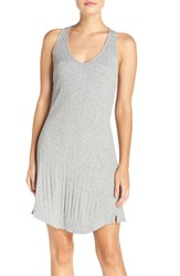 Skin Women's Variegated Rib Knit Cotton Chemise
