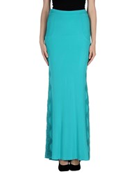 Blumarine Skirts Long Skirts Women Turquoise
