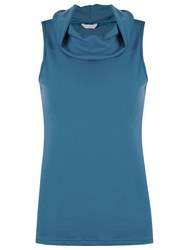 Lygia And Nanny Cowl Neck Blouse Blue