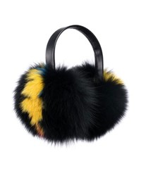 Eugenia Kim Janine Leather And Fur Earmuffs Black Multi