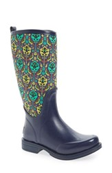 Uggr Women's Ugg X Liberty Of London 'Reignfall' Waterproof Rain Boot Blue
