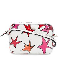 Lanvin Star Print Crossbody Bag White