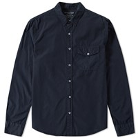 Save Khaki Poplin Work Shirt Blue