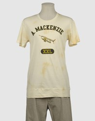 Andrew Mackenzie Topwear Short Sleeve T Shirts Men Light Yellow