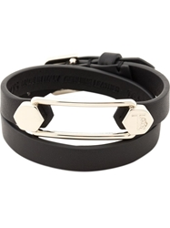 Tod's Leather And Metal Cuff Bracelet