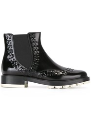 Tod's Stitch Detail Ankle Boot Black