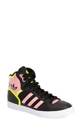 Women's Adidas 'Extaball' High Top Sneaker Core Black Solar Yellow