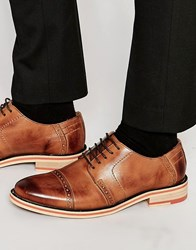 Frank Wright Brogues In Black Leather Brown