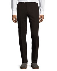 Luciano Barbera Cotton Twill Straight Leg Pants Brown