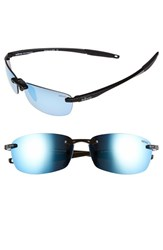 Revo Men's 'Descend E' 64Mm Polarized Sunglasses Black Blue Water Black Blue Water
