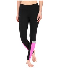 Pearl Izumi Fly Thermal Run Tights Black Screaming Pink Women's Workout