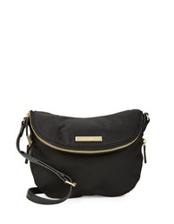 Vince Camuto Zip Accented Nylon Crossbody Bag Black