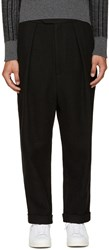 Curieux Ssense Exclusive Black Woven Trousers