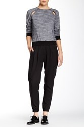 Shades Of Grey Pleated Jogger Black