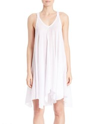 J Valdi Racerback Tank Dress Cover Up White