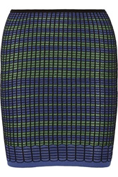 M Missoni Crochet Knit Cotton Blend Mini Skirt