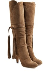 Chloe Suede Knee Boots Green