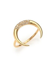 Jacquie Aiche Diamond And 14K Yellow Gold Crescent Ring