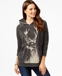 G.H. Bass And Co. Deer Graphic Hoodie Black Combo