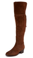 Frye Clara Tassel Over The Knee Boots Wood