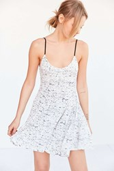 Silence And Noise Silence Noise Veda Fit Flare Mini Dress Black And White
