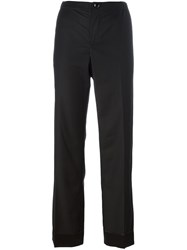 For Restless Sleepers Straight Leg Trousers Black