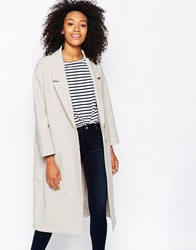 Monki Tailored Scuba Coat Beige