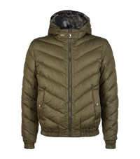 Versus By Versace Reversible Hooded Puffer Jacket Male Green