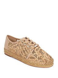 Vince Camuto Cai Cork And Leather Espadrille Sneakers Beige