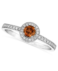 Le Vian Chocolate And White Diamond Circle 3 8 Ct. T.W. In 14K White Gold
